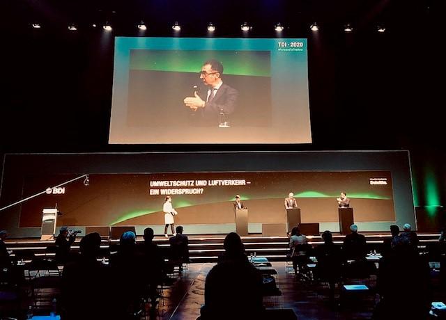 TDI 2020 (Tag der Industrie) mit Carsten Spohr (CEO, Deutsche Lufthansa AG), Cem Özdemir MdB (Vorsitzender, Ausschuss für Verkehr und digitale Infrastruktur im Bundestag) und Prof. Dr. Karen Pittel (Leiterin, ifo Zentrum für Energie, Klima und Ressourcen).